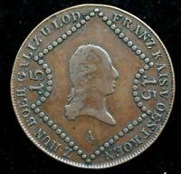 1807 AUSTRIA 15 KREUZER FRANZ KISER COIN 35MM