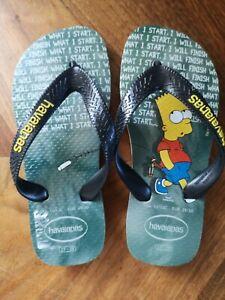 Bart Simpson Kids Havaianas 27-28 8-9 UK Brand New