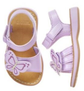 Gymboree Butterfly Blossoms 6 7 Purple Butterfly Sandals Shoes 2012 Summer Beach