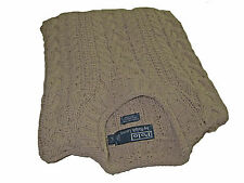 Polo Ralph Lauren Beige Gathered Neck Cable Knit Seafarer Sweater XL