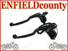 NEW ROYAL ENFIELD EARLY BLACK BRAKE & CLUTCH LEVER ASSEMBLY @ ECspares