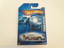 Hot Wheels 2007 Blue Card Ferrari GTC Race Car Diecast Model Car Scale 1:64