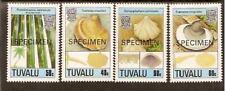 TUVALU FUNGI 1989 4v SPECIMEN OPT MNH