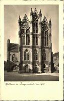 TANGERMÜNDE ~1930/40 alte AK Sachsen-Anhalt Strassen Partie am Rathaus Postkarte