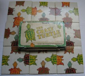 The Crazy Turtle Game Puzzle 1980 Price Stern Sloan PSS 9 Pieces Square