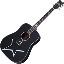 Schecter Robert Smith RS-1000 Busker Acoustic Guitar Gloss Black