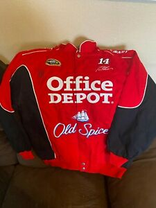 Tony Stewart #14 Office Depot Raced NEW Crew Jacket Large Autographed