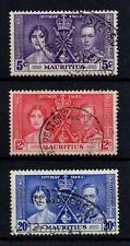 Mauritius 1937 Coronation, gestempelter Satz.