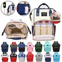 Mummy Maternity Baby Nappy Diaper Bag USB Large Capacity Travel Backpack Handbag