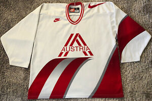 091 Austria National Team Ice Hockey Jersey Mens Size XL Nike Made In Canada