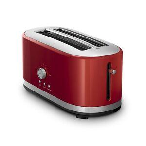 KitchenAid KMT4116ER 4 Slice Long Slot Toaster High Lift Lever, Empire Red
