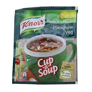 Knorr Cup A Soup Instant Soup, Manchow Veg, 12g pack of 12