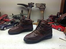 LADIES PORTUGALTIMBERLAND BROWN LEATHER LACE UP HIKING TRAIL ANKLE BOOTS 8.5 M