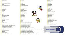 NEW EMBROIDERY USB DRIVE DISNEY CHARACTERS /VARIOUS BROTHER PES FREE PC SOFTWARE