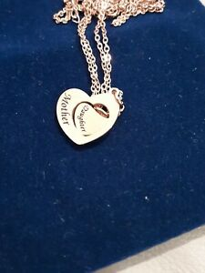 BRAND NEW MOTHER HEART & DAUGHTER 2 HEARTS ROSE  GOLD TONE NECKLCE AND PENDANTS
