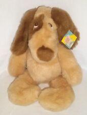 "New 1986 EDEN 18"" Plush DOG Puppy Brown Tan Vintage Large Stuffed Animal Toy"