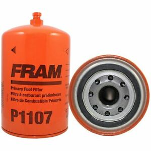 Fram P1107 Qty 6 FUEL FILTERS Spin-On w/ Drain