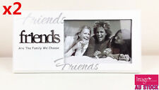 "2pcs Friends ""are The Family We Choose"" White Picture Frames Gki-fr1"