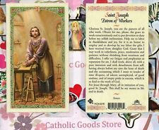 Saint St. Joseph  with Prayer to Saint Joseph the Worker - Laminated  Holy Card