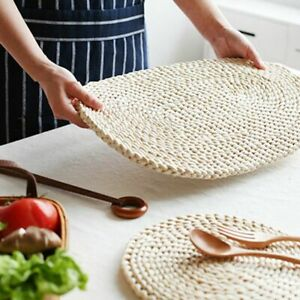 Corn Fur Woven Dining Table Mat Heat Insulation Pot Holder Placemat Mug Coaster