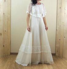 Robe de mariée bohème vintage, couleur crème taille 34/36