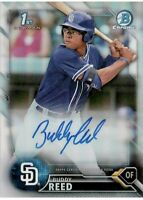 2016 Bowman Chrome BUDDY REED Autograph #CDA-BRE Rookie REFRACTOR SP /499