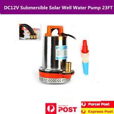 Submersible Well Water Pump Garden Farm&Ranch Solar Powered 23FT Lift 12VDC 120W
