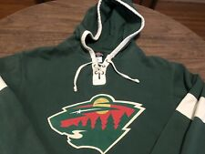 Minnesota Wild Nhl Old Time Hockey Medium Green Hoodie Sweatshirt