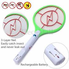 Rechargeable Electric LED Bug Insect Zapper Fly Mosquito Swatter Killer Racket