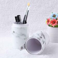 Makeup Brush Holder PU Leather Make Up Brushes Cosmetic Organizer Storage Cup
