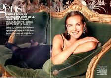 Coupure de presse Clipping 1997 Carole Bouquet & Chanel (4 pages)