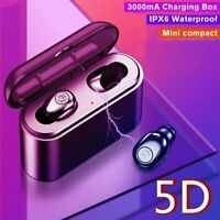 Bluetooth 5.0 Headset Mini TWS Real Wireless Headphone Stereo Earphones Earbuds
