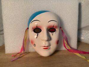 Vintage Mardi Gras Porcelain Ceramic Multi Color Face Mask Wall Hanging  A-5