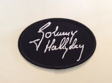 M165 PATCH ECUSSON JOHNNY HALLYDAY - SIGNATURE NOIR 10*6,5 cm