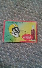 008 VTG Coca Cola Harrisonburg Blue Streaks Football Schedule Card 1960s? VA
