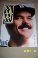 1989 BOSTON RED SOX Yearbook DWIGHT Dewey EVANS Free Shipping JIM RICE NEAR-MINT