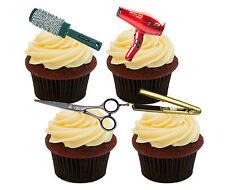 Coiffeur comestible cupcake toppers, nouveauté stand-up fairy cake bun décorations