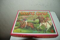 JEU DE PLATEAU STEEPLE CHASE HERITAGE TOYS  CHEVAUX COURSE GAME COMPLET NEUF