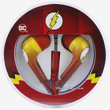 DC Comics The Flash LOGO bolt earbuds Earphones Headphones Red Yellow Licensed