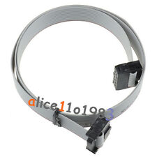 5PCS 70CM 10 Pin USBISP USBASP JTAG AVR Download wire 10P Ribbon Cable 2.54mm