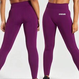 Gymshark Womens Lightweight Seamless Leggings sz S Magenta Yoga Pants Active NWT