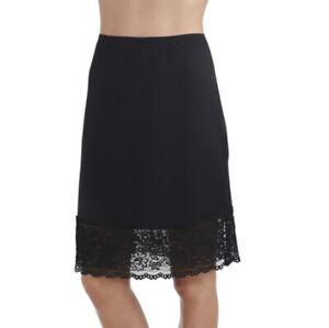 "Radiant by Vanity Fair Women's Luxurious Lace Half Slip 3411047 Black Small 18"""