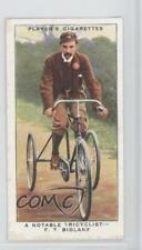1939 Player's Cycling Tobacco Base #18 A Notable Tricyclist- FT Bidlake Card 1x2