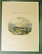 Frame Matted Print LAKES OF SCOTLAND Altrieve Cottage Selkirk-Shire Fleming Swan