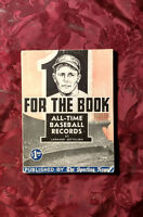 RARE FOR THE BOOK All Time Baseball Records Leonard Gettelson Sporting News 1953