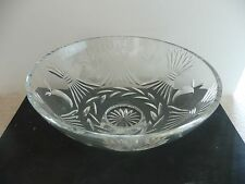 """Waterford Thanksgiving Centerpiece (Purchased Ireland 2002) 5.5"""" tall;13"""" across"""