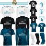 Kids Short Long Sleeve Shirt Football RONALDO Home Away Goalkeeper Boy Kit+Socks