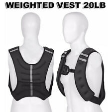 Pro Workout Weight 20LB Weighted Vest Exercise Training Fitness Adjustable Strap