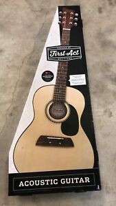 First Act Core Acoustic Guitar Natural, For Beginners, New