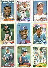 1989 Topps Complete Set with Randy Johnson and Gary Sheffield Rookies, 792 Cards